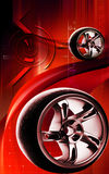 Alloy wheel Stock Photo
