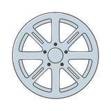 Alloy Wheel. Alloy Wheel Car rims vector illustration. EPS10 Format stock illustration