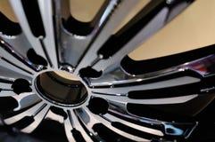 A-alloy wheel. An aluminum alloy wheel hub and spokes Stock Photography