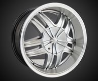 Alloy wheel of a car royalty free stock image