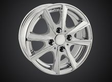 Alloy wheel of a car royalty free stock photo