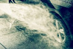 Alloy Wheel Cleaning Royalty Free Stock Photos