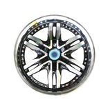 Alloy wheel with clipping path Stock Images