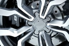 Alloy Wheel Closeup Royalty Free Stock Photos