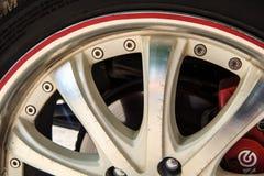 Alloy wheel drive Stock Photos