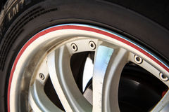 Alloy wheel drive Stock Photo