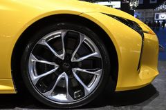 Alloy Wheel, Lexus LC 500 World-class luxury coupe at THE 39th BANGKOK INTERNATIONAL MOTOR S. Nonthaburi,THAILAND - March 30, 2018: Alloy Wheel, Lexus LC 500 royalty free stock images