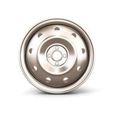 Alloy Wheel Rim front view close-up Royalty Free Stock Image