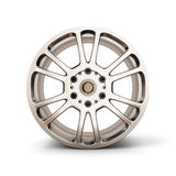 Alloy Wheel Rim front view isolated on white. Background. 3d render image Stock Images