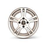 Alloy Wheel Rim front view on a white Stock Photo
