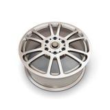 Alloy Wheel Rim on a white. Background. 3d illustartion Stock Photo