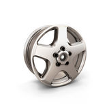 Alloy Wheel Rim on a white background. 3d render image Stock Photography