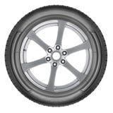 Alloy wheel set. Isolated on a white background closeup Royalty Free Stock Photo