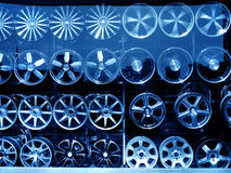 alloy wheel at store Stock Photography