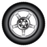 Alloy wheel tyre Stock Photos