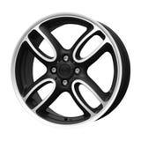 Alloy wheel on white back Royalty Free Stock Photo