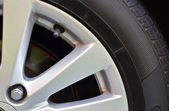Alloy Wheels. In the car Stock Photography