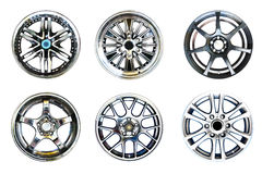 Alloy wheels with clipping path Royalty Free Stock Photography
