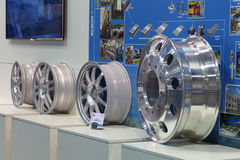 Alloy wheels Stock Photography