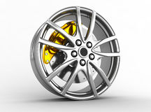 Alloy wheels for sports car Royalty Free Stock Images