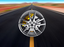 Alloy wheels for sports car Royalty Free Stock Image