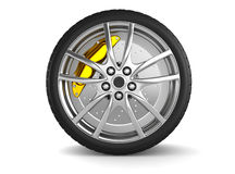Alloy wheels for sports car Royalty Free Stock Photography