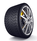Alloy wheels for sports car Stock Image