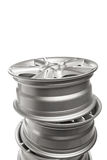 Alloy wheels stack Royalty Free Stock Image