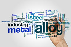 Alloy word cloud concept on grey background Stock Photography