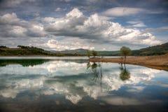 Alloz reservoir. Alloz Marsh Photography in Spain Royalty Free Stock Images