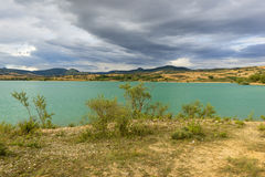 The Alloz reservoir in Lerate Stock Images