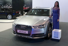 Allroad di Audi A6 dell'automobile Fotografie Stock Libere da Diritti