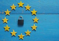 Allsång för europeisk union med hänglåset Royaltyfria Foton