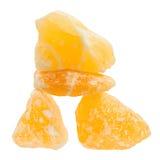 Allsidig orange calcite som läker stenar Arkivfoton