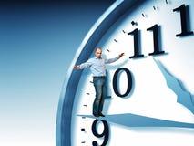 allsidig tid stock illustrationer