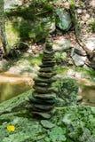 Allsidiga stenar i träna Fotografering för Bildbyråer