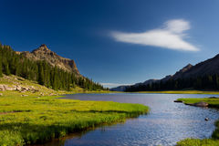 Allsop Lake Utah. This photo is of Allsop Lake in the Uinta Mountains in Utah Stock Photography