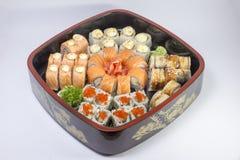 Allsorts av sushi Fotografering för Bildbyråer