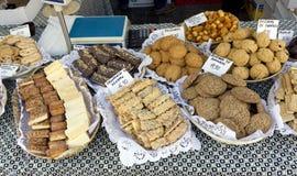 Allsorts cookies sold on street stock photo