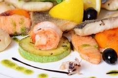 Allsorts dai pesci e dai frutti di mare Immagine Stock Libera da Diritti