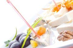 Allsorts de différentes pentes de fromage Image stock