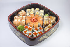 Allsorts des sushi Image stock