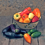 Allsorts di verdure. Immagine Stock