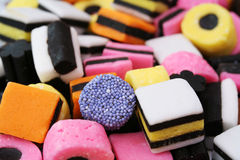 allsorts licorice arkivfoton