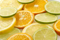 Allsorts-limette citron, citron, mandarine photo libre de droits