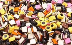 Allsorts liquorice. As a colorful  and sweet background Stock Photos