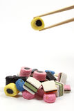 Allsorts liquorice in a chinese way Royalty Free Stock Image