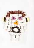 Allsorts man with big mouth Royalty Free Stock Images