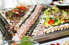 Allsorts of meat, fish and vegetables Stock Image