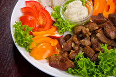allsorts mięsa warzywo Obraz Royalty Free